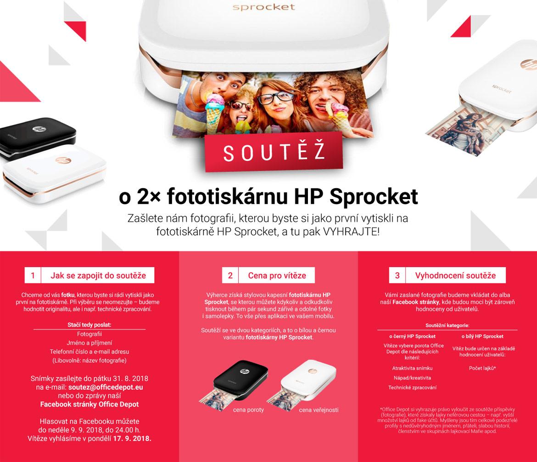 Soutěž o tiskárnu HP Sprocket