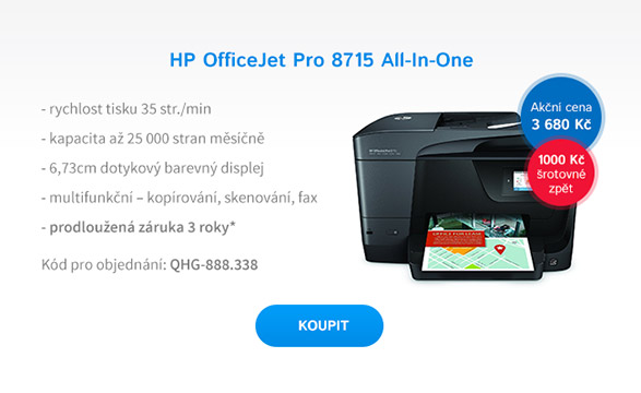 Multifunkce HP All-in-One Officejet Pro 8715