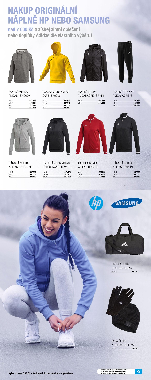 Sportovní oblečení ZDARMA k náplním do tiskárny