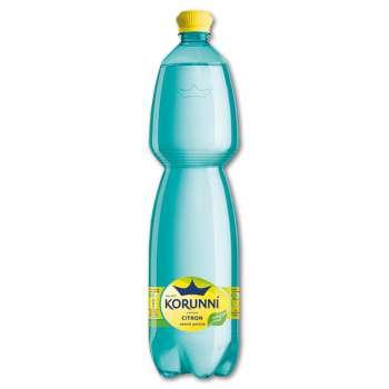 Ochucenná minerální voda Korunní - citron, 6 x 1,5 l