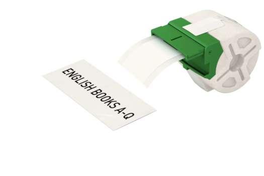 Samolepicí papírová páska Leitz Icon - bílá, šířka 50 mm, návin 22 m, černé písmo