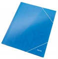Desky s chlopněmi a gumičkou Leitz WOW - A4, modr, 1 ks