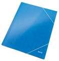 Desky tříchlopňové WOW A4 s gumičkou, modrá