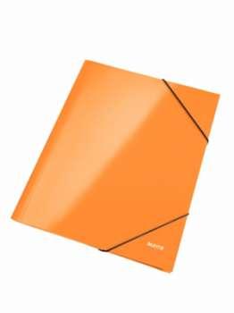 Desky tříchlopňové WOW A4 s gumičkou, oranžová