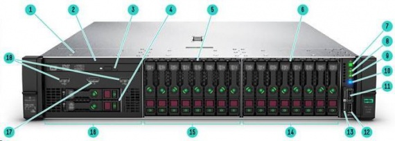 fdbbadfac HP ProLiant DL380 G10 S4110/16GB/3x300GB SAS/500W (875671-425 ...