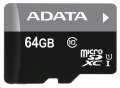 ADATA Premier Micro SDXC 64GB UHS-I + SD adaptér