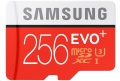 Samsung Micro SDXC EVO Plus 256GB UHS-I U3 + SD ad
