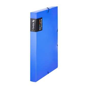 Box na spisy s gumičkou Opaline - A4, modrý, 3 cm