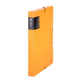Plastový box  na spisy s gumičkou Opaline A4, transp. oranžová
