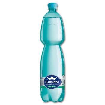 Minerální voda Korunní - jemně perlivá, 6x 1,5 l