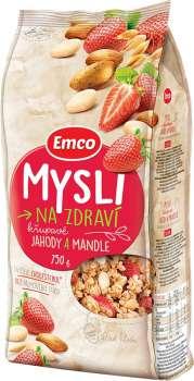 Křupavé mysli Emco, jahody a mandle, 750 g
