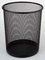 Drátěný odpadkový koš - černý, objem 13 l