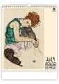 Nástěnný kalendář  Egon Schiele