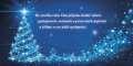 Novoročenka PF 2019 - zářící modrý stromeček
