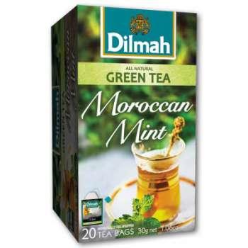 Čaj Dilmah Zelený s Marockou mátou, 25 x 2 g