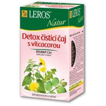 Čaj Leros Bylinný Natur Detox Čistící 20 x 1,5 g
