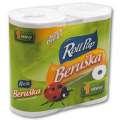 Toaletní papír Beruška - jednovrstvý, recykl, 20 m, 4 role