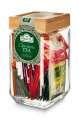 Výběr čajů v skleněné dóze Ahmad Tea, 40 sáčků