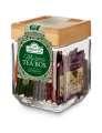 Výběr čajů ve skleněné dóze Ahmad Tea, 25 sáčků