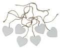 Závěsná dekorace - srdce, 4cm 6ks