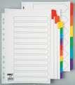 Rozlišovač Office Depot barevný zesílený - třídicí A4, 6 listů