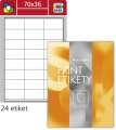 Univerzální etikety S&K Label - bílé, 70 x 36 mm, 2 400 ks