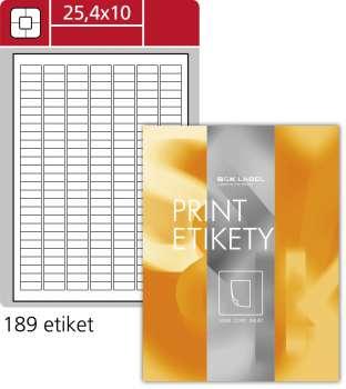 Samolepicí etikety SK Label - 25,4 x 10,0 mm, 18 900 etiket