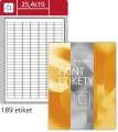 Univerzální etikety S&K Label - bílé, 25,4 x 10 mm, 18 900 ks