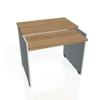 PC stůl Hobis GATE GS 9 X, višeň/šedá