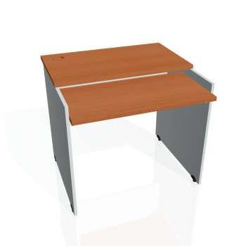 PC stůl Hobis GATE GS 9 X, třešeň/šedá
