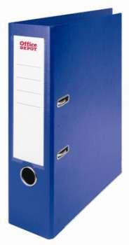 Pákový pořadač Office Depot - A4, plastový, hřbet 8 cm, modrá