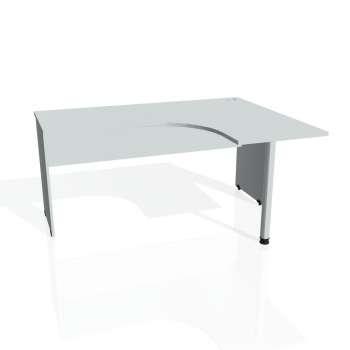 Psací stůl Hobis GATE GE 60 levý, šedá/šedá
