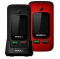 Mobiola MB610, mobilní telefon pro seniory, Dual SIM, černá