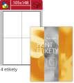 Univerzální etikety S&K Label - bílé, 105 x 148 mm, 400 ks