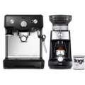 Sage BES810BKS Pákové espresso + elektrický mlýnek BCG600BKS
