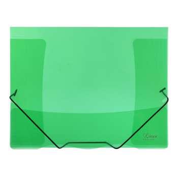 Desky s chlopněmi a gumičkou A4, zelená, 5 ks