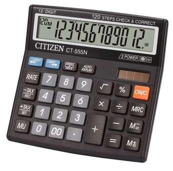 Stolní kalkulačka Citizen CT555N, černá