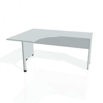 Psací stůl Hobis GATE GE 60 pravý, šedá/šedá