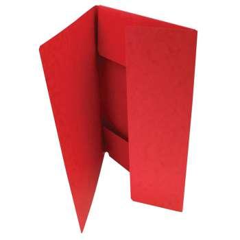 Desky prešpánové se třemi chlopněmi, červené, 20 ks