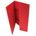 Prešpánové desky se třemi chlopněmi HIT Office - A4, červené, 20 ks