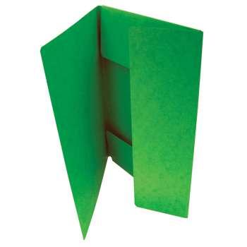 Prešpánové desky se třemi chlopněmi, zelená, 20 ks