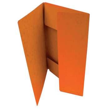 Prešpánové desky na dokumenty s chlopněmi HIT  - A4, oranžové, 20 ks