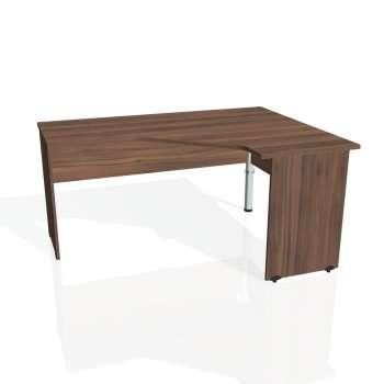 Psací stůl Hobis GATE GEV 60 levý, ořech/ořech