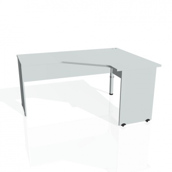Psací stůl Hobis GATE GEV 60 levý, šedá/šedá