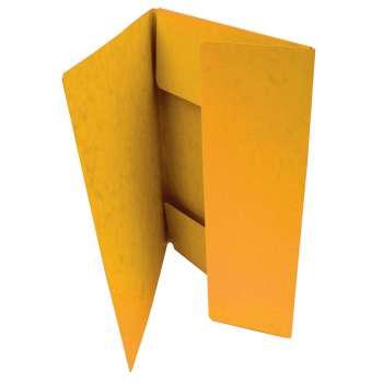 Desky prešpánové se třemi chlopněmi, žluté, 20 ks