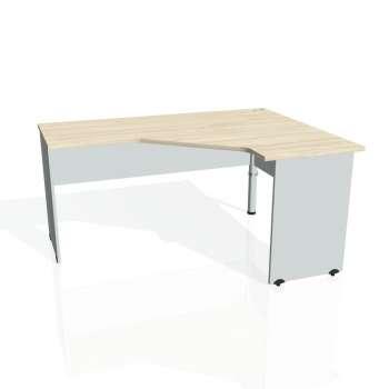 Psací stůl Hobis GATE GEV 60 levý, akát/šedá