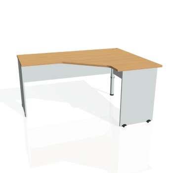 Psací stůl Hobis GATE GEV 60 levý, buk/šedá