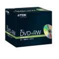 DVD+RW TDK- slim box, 10 ks