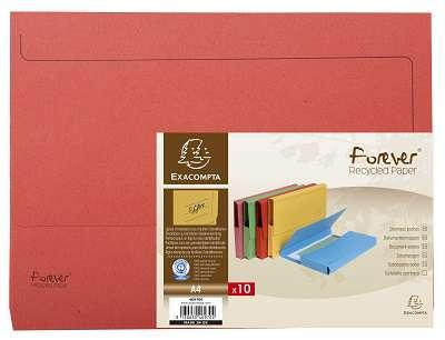 Papírové desky na dokumenty Exacompta - A4, hřbet až 3,2 cm, červená , 10 ks