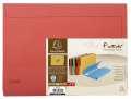 Papírové desky na dokumenty Exacompta - A4, hřbet až 3,2 cm, červené, 10 ks
